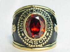 Garnet Stone Men Ring Size 11 12x10 mm United Kingdom Mason Masonic January
