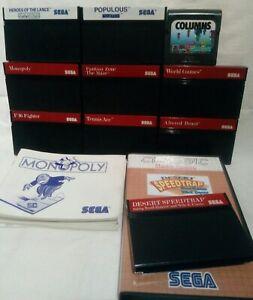9 Sega Master System Spiele & Columns für Game Gear, Sammlung, Konvolut, Paket