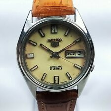 Vintage Seiko Automatic Movement Day Date Dial Mens Wrist Watch A184