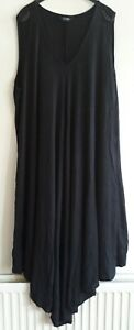 Ladies, Long, Loose and flowing Black Maxi Dress from Yours- Size 26-28