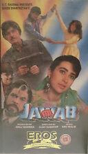 JAWAB - VHS Video Tape Cassette Bollywood Hindi Movie VERY RARE