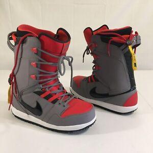 Nike Vapen Snowboarding Boots Red/Gray (Sz~10 Mens) *RARE* 447125-006 2012 MINT!