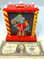 ⭐️VINTAGE CAN-CAN MUSIC BOX CLOWN COIN BANK MADE IN JAPAN W/ KEY🔥