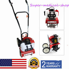Mini Garden Tiller Cultivator, Gas Engine Tine Rototiller Machine, 2-Stroke 52CC