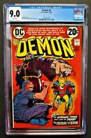The DEMON #4 Graded CGC 9.0 Jack Kirby Story/Art White Pgs DC 1972 FREE SHIPPING