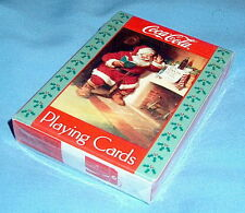 Factory Sealed! COCA COLA Christmas Santa 1992 U.S. Playing Cards fireplace