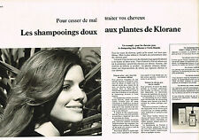PUBLICITE  1978   KLORANE  shampoing (2 pages)