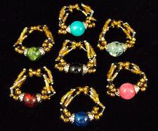 Sundance Glass Bead Fashion Ring From Calypso Studios ~ Wholesale Lot of 84 Pcs