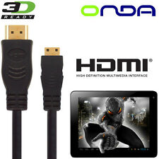 Onda Vi40, V972, V812 Android Tablet PC HDMI Mini to HDMI TV 5m Lead Wire Cable