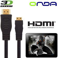 Onda Vi40, V972, V812 Android Tablet PC HDMI Mini to HDMI TV 5m Cavo Cord Cable