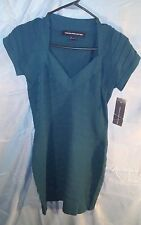 French Connection V-Neck Mini Bandage Bodycon Dress Blue Teal sz 8 NWT