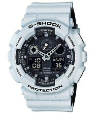 BRAND NEW CASIO G-SHOCK GA100L-7A MILITARY 3-EYE ANA-DIGI WHITE/BLACK WATCH NWT