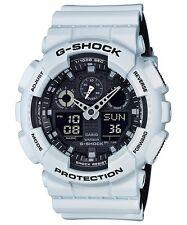Brand New Casio G-Shock GA100L-7A Military 3-Eye Ana-Digi White/Black Watch NWT