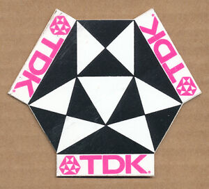 TDK [cassette tape] RARE vintage promo sticker