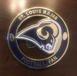 St Louis Rams NFL Team football fans show your colors with a shirt or fridge pin
