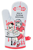 Blue Q 'F*cking Delicious' Oven Mitt -Pot Glove Kitchen Novelty Home Gift