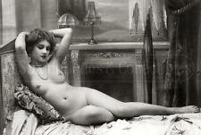 1900s Antique erotic nude Girl woman vintage risque art Photo photograph 4x6