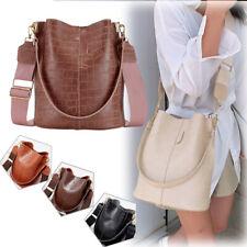 Women Shoulder Tote Bag Crossbody Bags Bucket Crocodile Faux Leather Fashion New