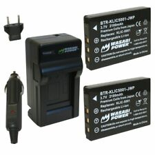 Wasabi Power Battery (2-Pack) and Charger for Kodak KLIC-5001