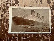1936 The Queen Mary New Cunard White Star Superliner Postcard