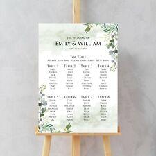 Wedding Seating Table Plan, Eucalyptus Reception Seating Plan