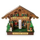 Weather House,Forest Weather House with Man and Woman,Wood Chalet Baromete D0B5
