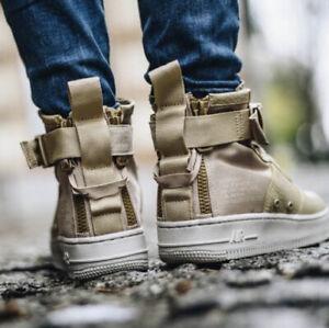 Nike Air Force 1 Mid Light Bone Fashion Sneaker Size 9