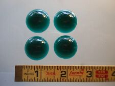 "New Teal Green Smooth Round LOT of 4 Jewels ~25mm (~1"")"