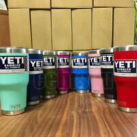 Yeti Rambler Stainless Steel Cup Insulated 30oz Tumbler with Lid Multi-colors