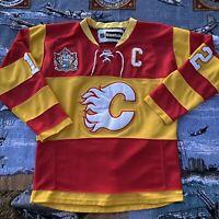 Calgary Flames Jersey Jarome Iginla 2011 Heritage Classic Size 52 Hand Stitched