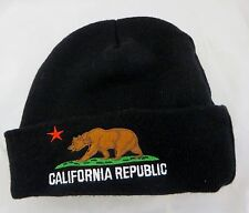 California republic   beanie  cap hat