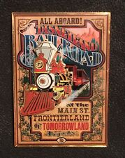 Attraction Poster Disney Pin 69628~Disneyland Railroad All Aboard Main St~LE 300