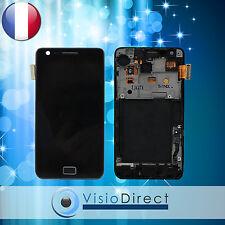 Ecran vitre complet sur chassis pour Samsung Galaxy S2 i9100 noir
