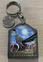 Scottsdale Arizona Roadrunner Travel Souvenir Keychain Key Ring #38060