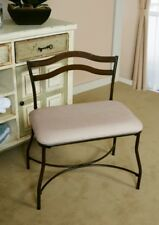 Wide Vanity Bench Upholstered Stool Metal Chair Accent Seat Entry Hall Bedroom
