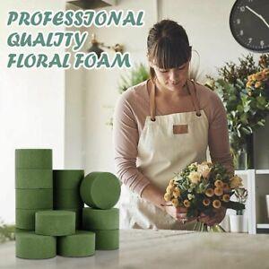 8×Round Dry Floral Foam Blocks, Green Styrofoam Blocks for Artificial Flowers