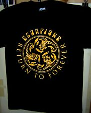 SCORPIONS Pre Worn T-Shirt RETURN TO FOREVER 2015 Tour Size MEDIUM Very COOL