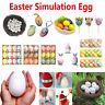 1/3/9/10/12/20/30/36pcs DIY Easter Simulation Egg Ornament Kids Painted Toys
