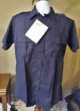 NEW Topps Safety Apparel SH96 Navy Blue Public Safety FR Work Shirt L 16-16.5