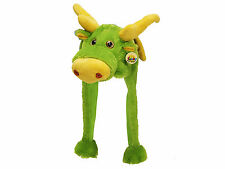 Tier Mütze Plüsch grüner Drache