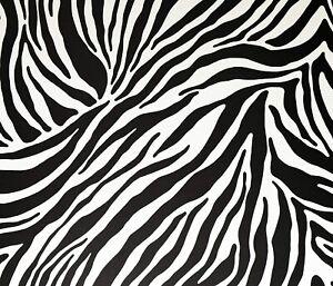 Fablon Vinyl Self Adhesive Zebra Black White Design 45cmX2m Sticky Back FAB10132