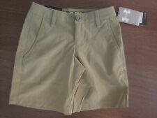 UNDER ARMOUR Golf Shorts Boy's Size YXS Youth XS 6 Khaki NEW NWT