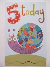 Precioso Colorido remolinos en un caracol 5 hoy 5TH Cumpleaños Tarjeta De Felicitación