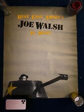 Joe Walsh Poster Rest Easy America Joe Walsh Is Awake Rare Htf