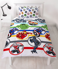 Official Marvel Avengers Comic Strong Stripes Reversible Single Duvet  Set
