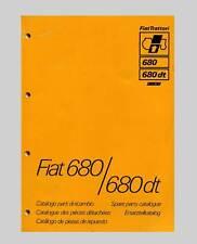 FIAT 680 680 dt Schlepper Traktor Ersatzteilliste Orginal 1979