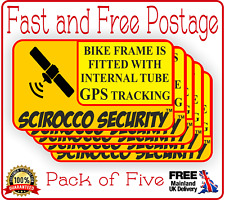 3 x GPS Sticker Aluminium Cut Bike anti Theft Sticker Tracker Protected