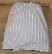 "Ralph Lauren Watermill Purple Stripe Full Bedskirt 14"" Drop"
