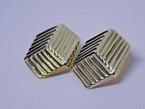 PAIR OF 9CT GOLD CLIP ON EARRINGS. FULL 375 HALLMARKS. 4.8 GRAMS