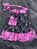 Eiffel Tower Paris Pink and Black Handmade Apron New Without Tags